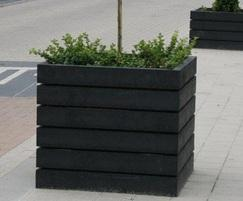 Agora square recycled plastic planter