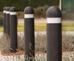 100% recycled plastic dome top bollards