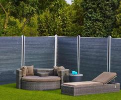 GovaWall fence system in recycled plastic