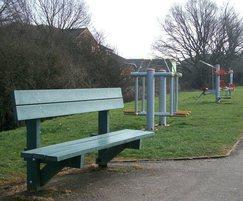 Paris recycled plastic seat, Moatfield Park, Bushey