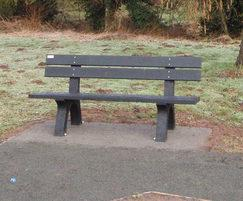 Recycled plastic bench, Queenswood Country Park