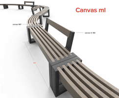 Canvas recycled platic bench with or without backrest