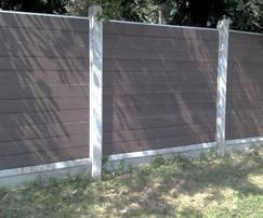 GovaWall® panels only for existing concrete posts
