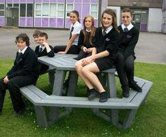 Roma picnic table, Woodlands School, Basildon