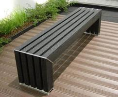 Avenue recycled plastic bench