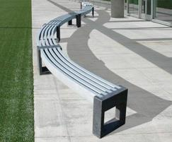 Canvas 30 degree recycled plastic benches