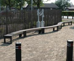 Canvas 30 degree benches, primary school play area