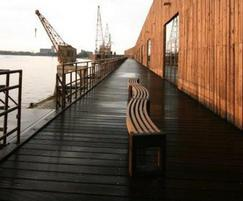 Canvas 30 degree benches, dockside
