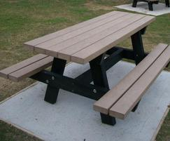 Oslo recycled plastic picnic table - Eastbourne Council