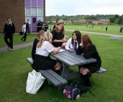 Oslo recycled plastic picnic table - Woodlands School