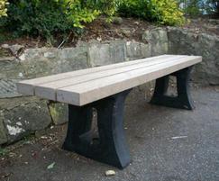 Bonn ZL - recycled plastic backless bench