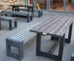 London table with Canvas 180 benches at Booths supermar