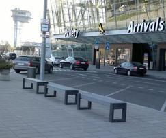 Canvas 180 recycled plastic benches  in black & grey