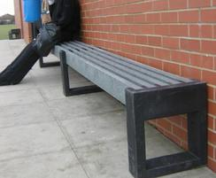 Canvas 180 recycled plastic benches at school