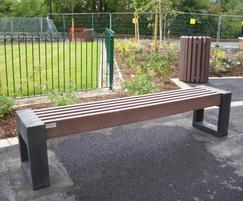 Canvas 180 recycled plastic benches, Manchester