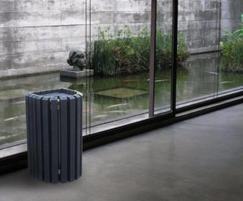 Mercury recycled plastic litter bin at museum