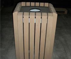 Mercury square recycled plastic litter bin