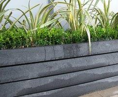 Agora recycled plastic planter at Sofitel, Gatwick