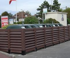 Normandie bin bay fence system