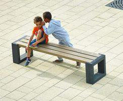 Govaplast® Matrix 004 recycled plastic bench