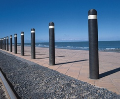 Recycled plastic bollards with dome top