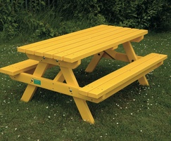 Yellow Junior picnic table