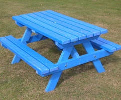 Blue Junior picnic table