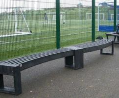 Canvas 30 recycled plastic curved benches for school