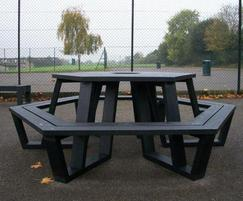 Roma recycled plastic picnic table for school