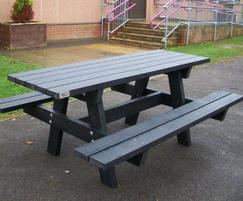 Oslo recycled plastic picnic table for school