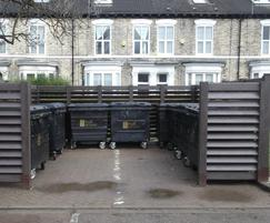 Bin bay screens for Hull City Housing