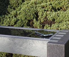 Solar powered recycled plastic Smart bench 6180