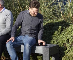 Contemporary solar powered smart bench 6180