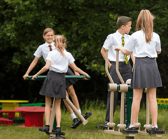 Outdoor gym equipment for primary school