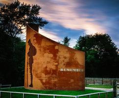 WW1 memorial in corten steel. We will remember them.