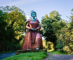 Sculpture of Alice Nutter, a famous Pendle witch