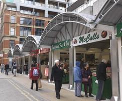 Bespoke market stall buildings, Manchester