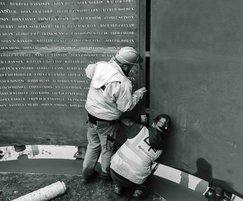 Installing the memorial