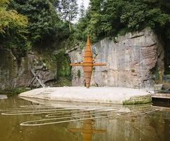 Worsley Delph corten steel sculpture, Bridgewater Canal