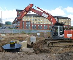 SuDS construction at Luton Airport