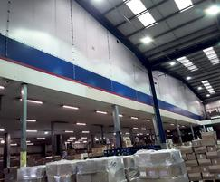 Flexiwall® suppressed dust in warehouse