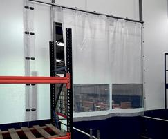 Flexicurtain® was installed on the pallet gate