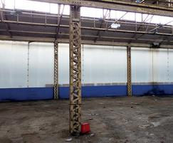 Industrial partition relocated after 20 years