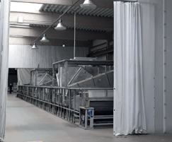 Flexicurtain provides access for plant mahinery