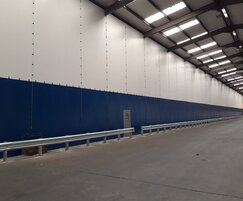 Industrial partitioning controls dust and contamination