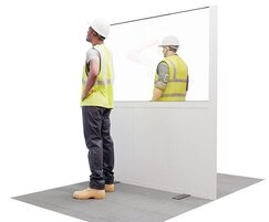 Hoardfast social distancing screen - construction