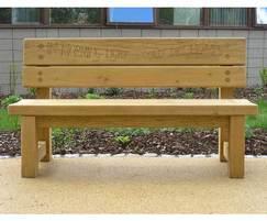 Poet bench, Falkirk Hospital