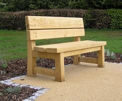 Birds sing the colours i love oak bench