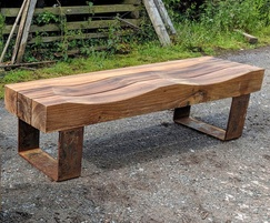 Type 7 Up-cycled greenheart bench