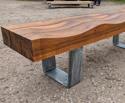 Greenheart timber bench